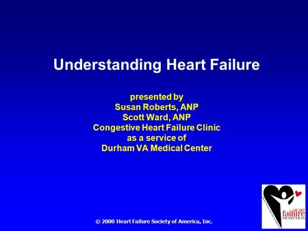 © 2000 Heart Failure Society of America, Inc.