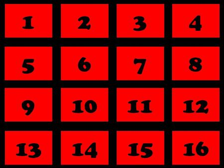 ABCD 1 Concentration 2 Game 3 4 By Joe Hart 2011  1 Next Puzzle 2 34 5 6 78 9 10 1112 13 14 1516.