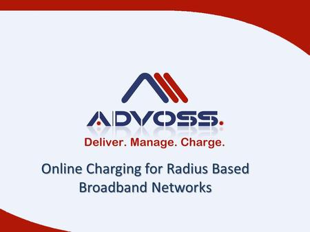 Online Charging for Radius Based Broadband Networks.