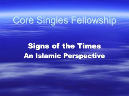 Core Singles Fellowship