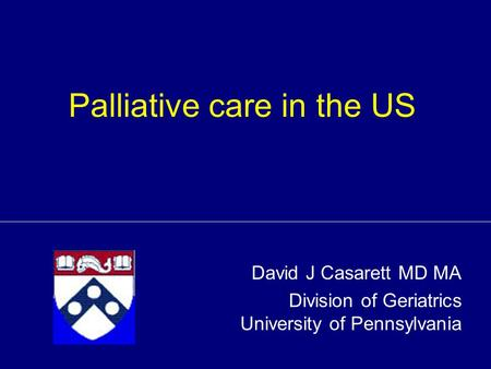 Palliative care in the US