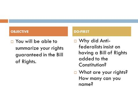 What are your rights? How many can you name?
