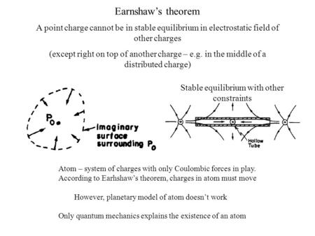 A point charge cannot be in stable equilibrium in electrostatic field of other charges (except right on top of another charge – e.g. in the middle of a.