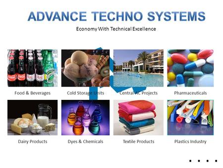 Economy With Technical Excellence Food & BeveragesCold Storage UnitsCentral AC ProjectsPharmaceuticals Dairy ProductsDyes & ChemicalsTextile ProductsPlastics.