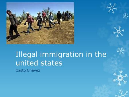 Illegal immigration in the united states Casto Chavez.