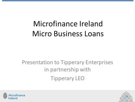 Microfinance Ireland Micro Business Loans