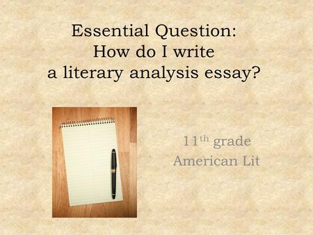 essential question narrative essay Essential questions: why does a writer need a call for action in a persuasive essay how can persuasive writing be crafted so it motivates and influences a.