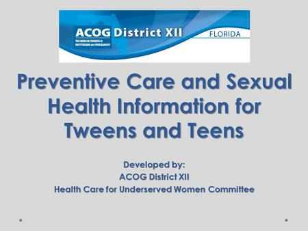 Preventive Care and Sexual Health Information for Tweens and Teens