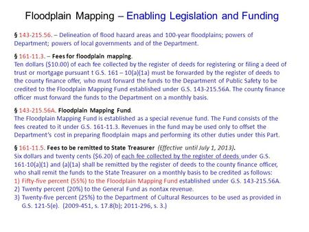 § 143-215.56. – Delineation of flood hazard areas and 100-year floodplains; powers of Department; powers of local governments and of the Department. §