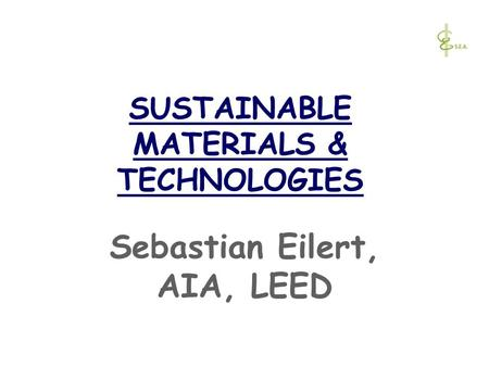 SUSTAINABLE MATERIALS & TECHNOLOGIES