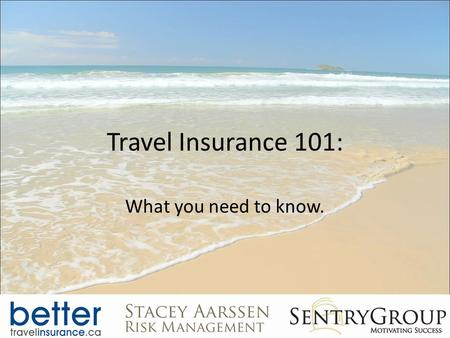 Travel Insurance 101: What you need to know.. Introduction.