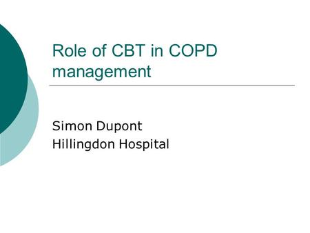 Role of CBT in COPD management