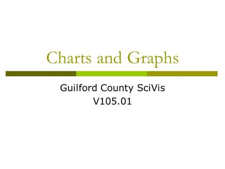Charts and Graphs Guilford County SciVis V105.01.