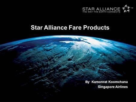 Star Alliance Fare Products