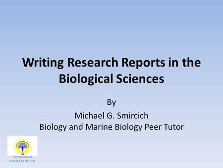Write my marine biology research paper