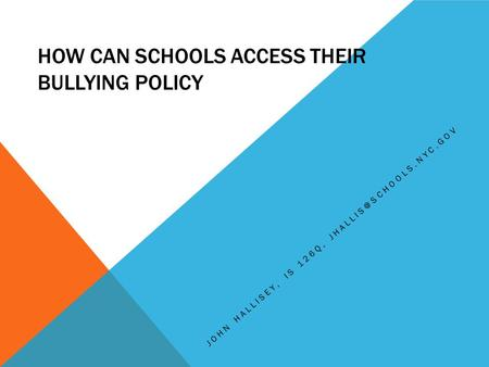 an analysis of bullying in the schools Bullying in schools typically, bullying is thought of as aggressive behavior on the part of one child school bullying: an analysis and recommendations.