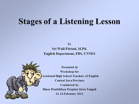 Stages of a Listening Lesson