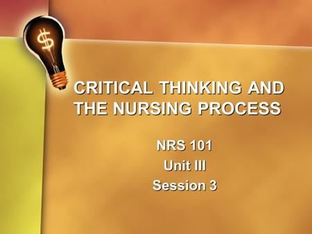 barriers to critical thinking in nursing Preceptor tool kit barriers to learning and strategies to enhance learning enhancing critical thinking and developing an empowered partnership.