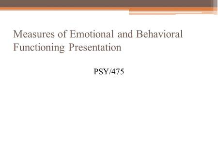 Assessment of Behavioral and Emotional Problems in Infancy: A Systematic Review
