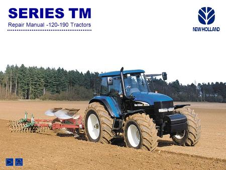 SERIES TM Repair Manual -120-190 Tractors. CONTENTS SECTION 00 GENERAL / SAFETY Chapter 1 Chapter 1 -General Instructions and Health & Safety SECTION.