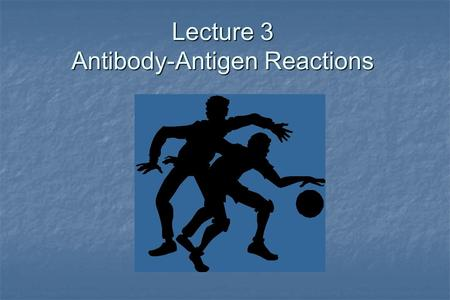 Lecture 3 Antibody-Antigen Reactions