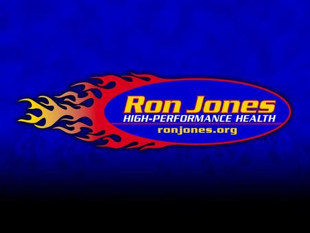 "Ron Jones Dynamic Warm-Up ""Moving Better With Less Pain!"" © 2007 Ron Jones LLC."