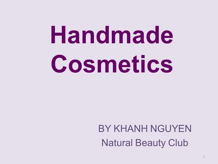 BY KHANH NGUYEN Natural Beauty Club