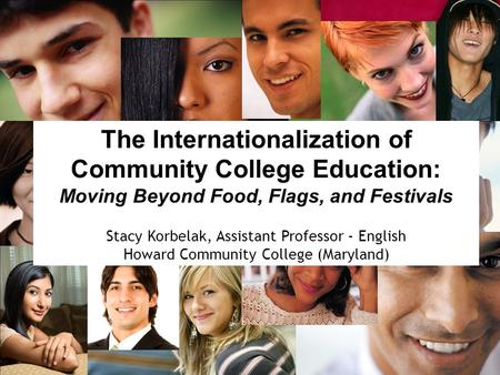 The Internationalization of Community College Education: