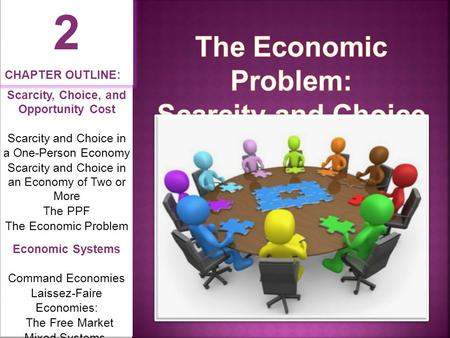 2 The Economic Problem: Scarcity and Choice CHAPTER OUTLINE: