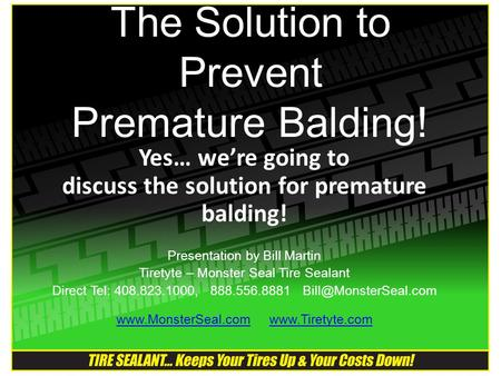 The Solution to Prevent Premature Balding!