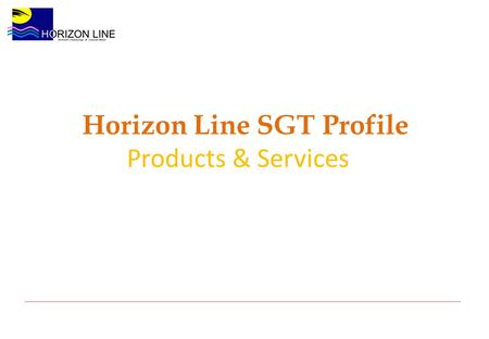 Horizon Line SGT Profile Products & Services. Horizon Line provides software products, IT services and Business Process Outsourcing (BPO) for a variety.