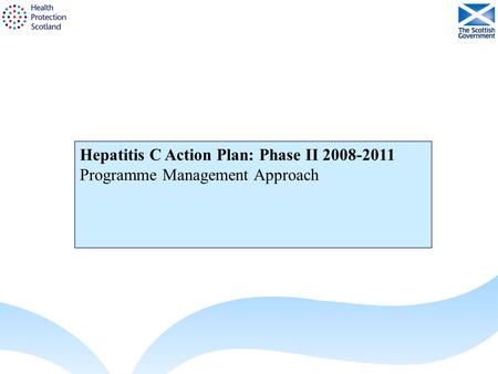 Hepatitis C Action Plan: Phase II 2008-2011 Programme Management Approach.