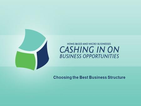 Choosing the Best Business Structure