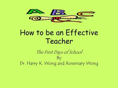 Wondrous How To Be An Effective Teacher Ppt Download Short Hairstyles Gunalazisus