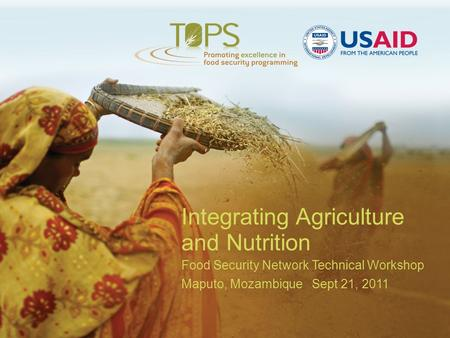 Integrating Agriculture and Nutrition