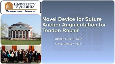 Joseph S. Park, M.D. Silvia Blemker, PhD. University of Virginia Orthopaedic Surgery Clinical Problem: Fixation of FDL Tendon to Navicular Cut posterior.