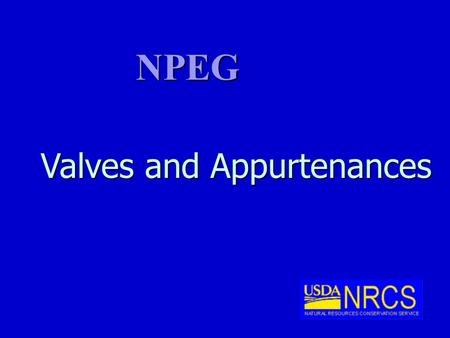Valves and Appurtenances