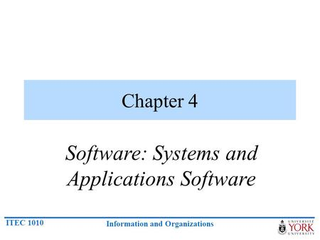 Software: Systems and Applications Software