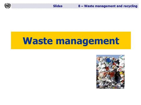 Waste management.