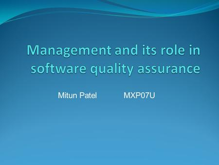 Mitun PatelMXP07U. Organisational structure Top management; this includes the organisation's general manager and its executives Department managers; this.