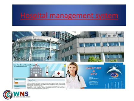 Hospital management system. Main modules Patient's manager Reception login Doctor's manager Cashier login Dispensers login Laboratory test Operation login.