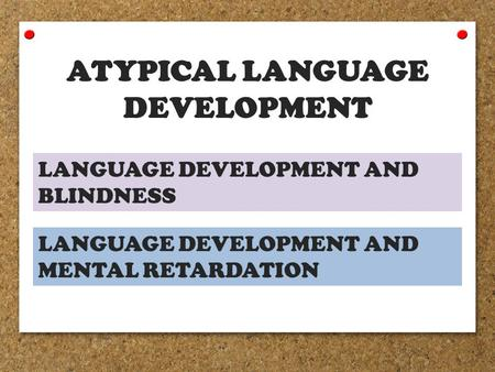 Atypical Child and Adolescent Development