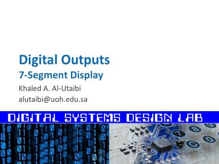 Digital Outputs 7-Segment Display
