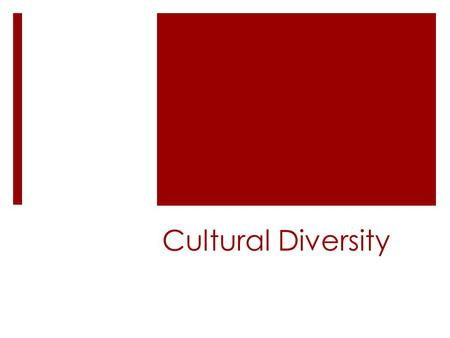 Cultural Diversity. Bell Work – Cultural Diversity1/27  What are your first impressions of this woman? (be honest)  What symbols are present in this.