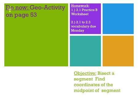 Do now: Geo-Activity on page 53