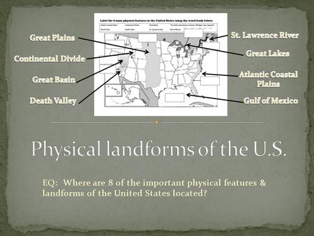 Physical landforms of the U.S.