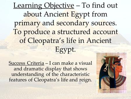 an introduction to the life of cleopatra While today we consider the greco-roman period to be in the distant past, it should be noted that cleopatra vii's reign (which ended in 30 bce) is closer to our own time than it was to that of the construction of the pyramids of giza it took humans nearly 4000 years to build something--anything--taller than the great.