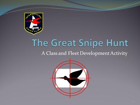 "A Class and Fleet Development Activity 1. What is ""The Great Snipe Hunt"" The Great Snipe Hunt is a fleet building activity aimed at locating missing snipe."