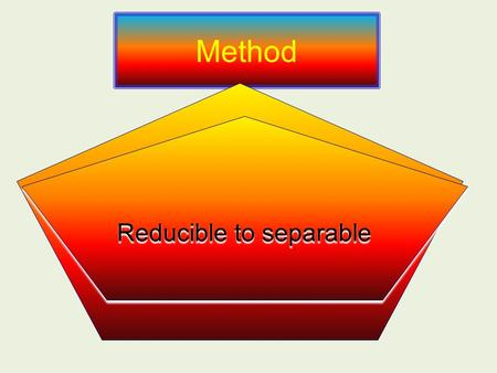 Method Homogeneous Equations Reducible to separable.