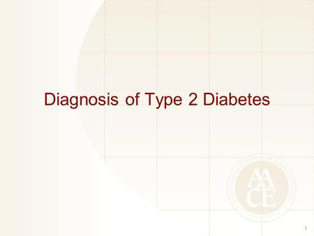 Diagnosis of Type 2 Diabetes 1. Diagnostic Criteria for Prediabetes and Diabetes in Nonpregnant Adults 2 NormalHigh Risk for DiabetesDiabetes FPG <100.